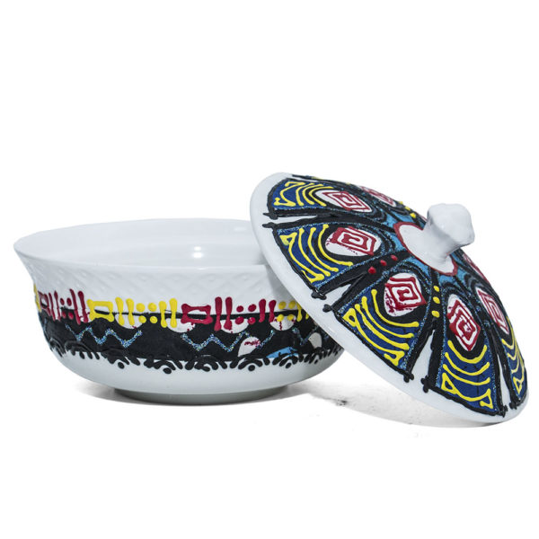 African Handcrafted Abstract Soup Bowl