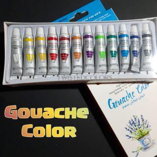 12pcs Keep Smiling Gouache Color Set