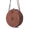 Bronze Round Raffia Bag