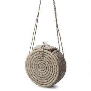 Plain Round Raffia Bag