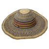 Blue Striped Raffia Hat