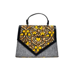 Ladies Ankara & Jute Handbag (1)