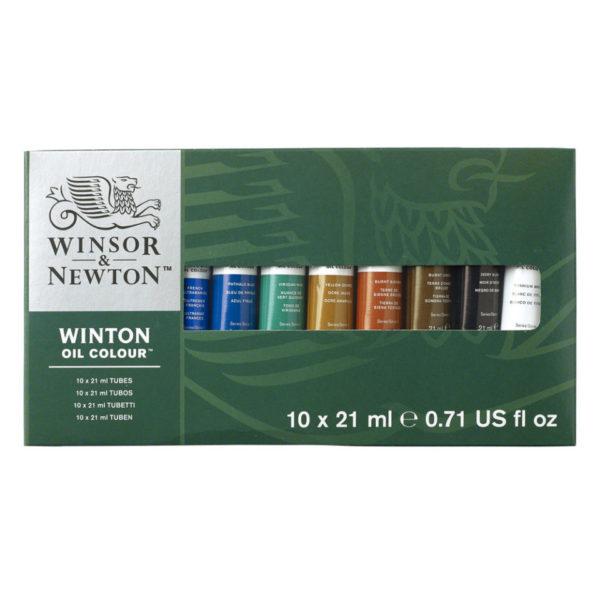 10pcs Winton Oil Colour Tube Set