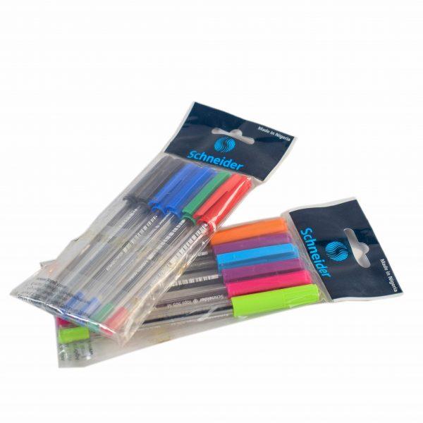 6pcs Schneider Electric Tops 505 Ballpoint Pens
