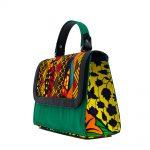 Ladies Green Patch Ankara Handbag (3)