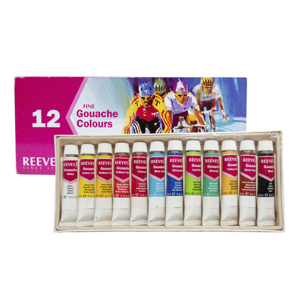 Reeves 12pcs Fine Gouache Colours