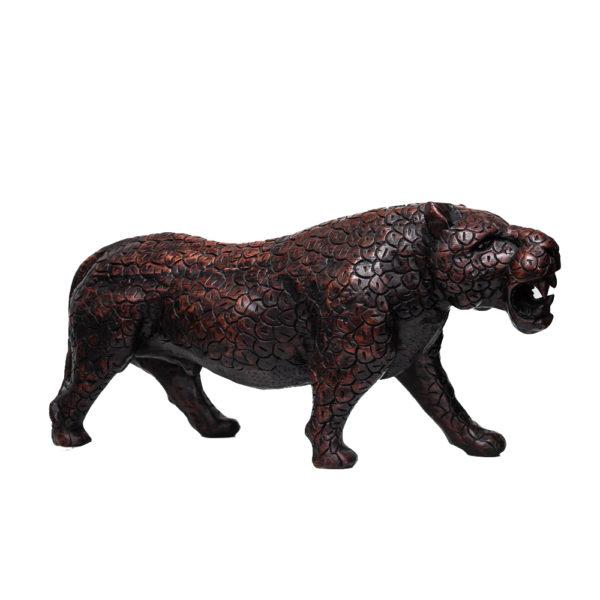 Ebony Wood Leopard Sculpture